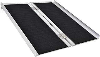 Goplus® Multi-Fold Aluminum 3' Non-Skid Wheelchair Ramp Mobility Scooter Mobility Ramp (3' x 30