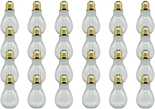 Creative Hobbies Clear Plastic Fillable Light Bulbs Great for Candy Weddings Or Crafts 4 inch Tall Case Pack of 24