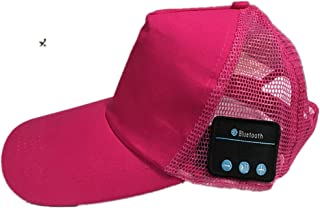 GLJJQMY Creative Wireless Bluetooth Headset Sports Mesh Cap Multifunction Bluetooth Earphone (Color : RED)