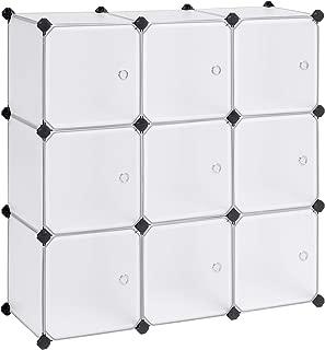 SONGMICS Armario Modular con 9 Cubos, Montaje en Bricolaje,