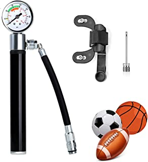 Od-sport Mini Bike Pump with Gauge Up to 210 PSI, High Press Tire Pump for Bicycle with Fix Frame, Presta to Schrader Adapter Compatible Bike Air Pump
