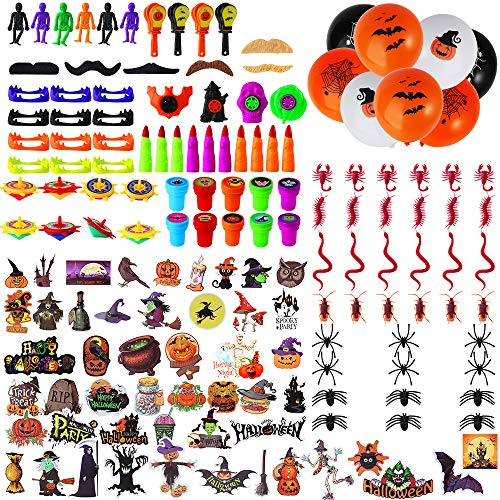 Outee 160 Pcs Halloween Toys for Kids Christmas Gift Halloween Party Favors Halloween Prizes School Classroom Rewards Trick or Treating Halloween Toys for Kids
