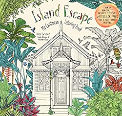 Island Escape: My Carribean Coloring  a watercolor coloring book