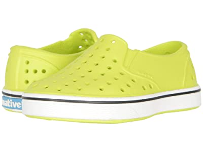 Native Kids Shoes Miles Slip-On (Toddler/Little Kid) (Chartreuse Green/Shell White) Boys Shoes
