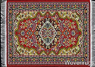 Inusitus Woven Dollhouse Carpet - Miniature Dolls House Rugs - Toys 10x7 1