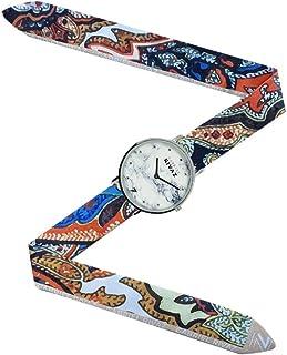 Montre Bracelet Foulard signée Gabriel Rivaz - Bracelet en Soie - Montre Fond marbré - Mécanisme Japonais - Jakarta
