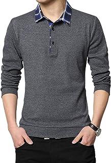 [クーパーアンド] 3カラー M~2XL ポロシャツ 襟付き チェック 長袖 シンプル カジュアル お洒落 大人 トップス
