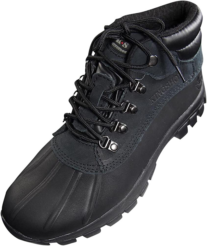 kingshow - Mens Warm Waterproof Winter Excellence Max 43% OFF Height Leather Mid B Snow