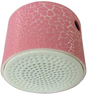 3.5mm Portable Rechargeable Crack Pattern Stereo Speakers Support, Adjustable Volume MP3 Music Player (Color : Pink)