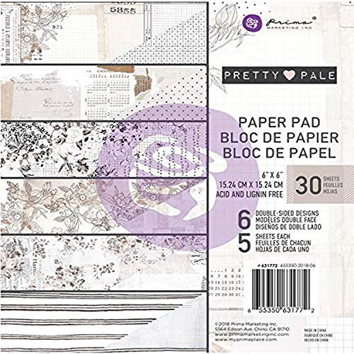 "Prima Marketing doble cara papel Pad 6 ""X6"" 30/Pkg-Pretty pálido, 6 diseños/5"