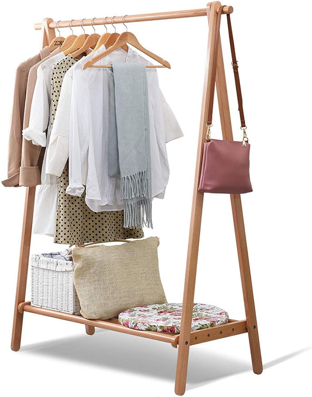 Household Coat Rack Simple Floor Hanging Clothes Rack Folding Frame (Size   75cm148.5cm)