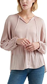 Lucky Brand womens PLEATED PEASANT TOP Shirt