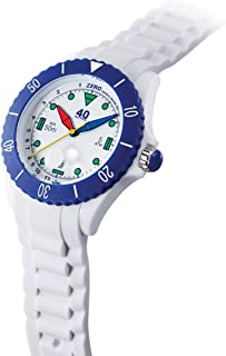 40Nine Japanese-Quartz Watch with Silicone Strap, White, 21.3 (Model: 40NINE02/FUN10