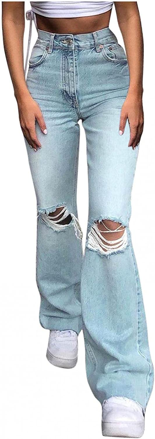 Lingbing Y2K Fashion Jeans for Women, Teen Girls 90s Vintage Flared Pants Casual High Waisted Trousers Baggy Denim Pants