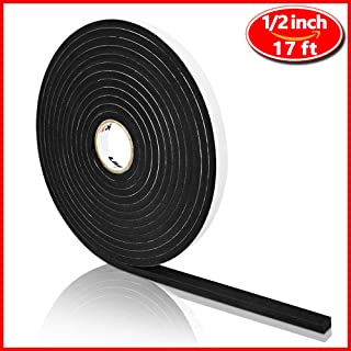 High Density Foam Tape, Seal Strip Self Adhesive Weather Stripping for Doors Seal and Window, Insulation Single Sided Foam Strips(1/4