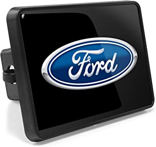 iPick Image Ford Logo UV Graphic Metal Plate on ABS Plastic 2 inch Tow Hitch Cover, Made in USA