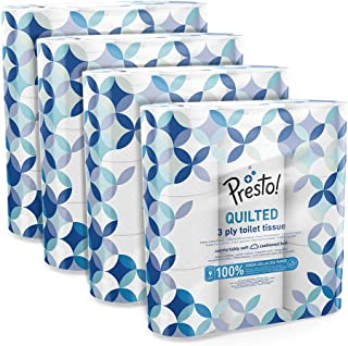 Amazon-Marke: Presto! 3-lagiges Toilettenpapier, 36 Rollen 9 x 4 x 200 Blätter
