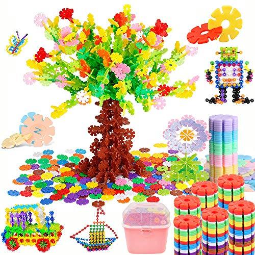 Tebrcon 約1000ピース おもちゃ ブロック 子供 積み木 知育玩具 セット 男の子 女の子 はめ込み 組み立て DIY 立体パズル