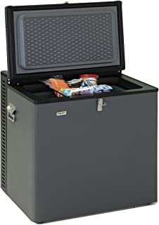 SMETA Compact Absorption Refrigerator Mini Chest Freezer 2.5 cu ft,12V/110V/LPG