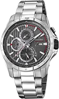 Festina F16995/2 For Men - Analog Casual Watch, Stainless Steel