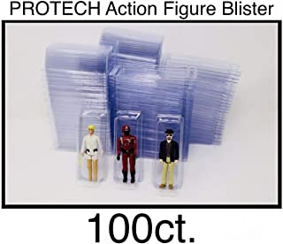 Blister Cases/Packs for Loose Action Figures: GI Joe, Star Wars, Empty Clam Shell - Plastic/Toy Organization (100 Pack)
