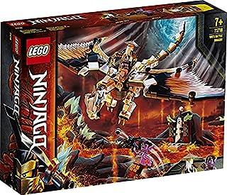 LEGO NINJAGO Wu's Battle Dragon 71718 building set with hero Wu and Gleck minifigures
