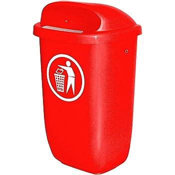 50 Liter nach DIN 30713 Farbe: rot Abfallbeh/älter f/ür den Au/ßenbereich