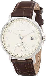 ساعة للرجال من غانت بيننغتون للرجال بمينا بيضاء وسوار جلد -G Gww022002، عرض انالوج
