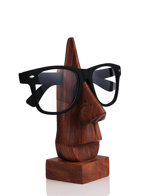 WhopperIndia Wooden Eyeglass Spectacle Holder Handmade Nose Shaped ...