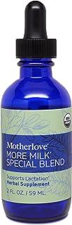 Motherlove More Milk Special Blend Tincture (2oz) Herbal Lactation Supplement w/ Goat's Rue—Build Mammary Tissue, Enhance ...
