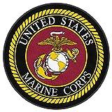 2' Cupcake (12 Per Sheet) - United States Marine Corps Emblem - Edible Cake or Cupcake Topper - D10082
