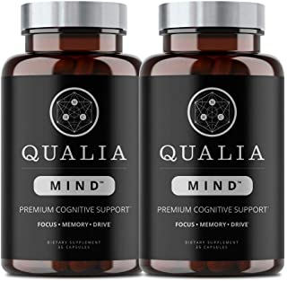 Qualia Mind Nootropics | Top Brain Supplement for Memory, Focus, Mental Energy, and Concentration with Ginkgo biloba, Alph...