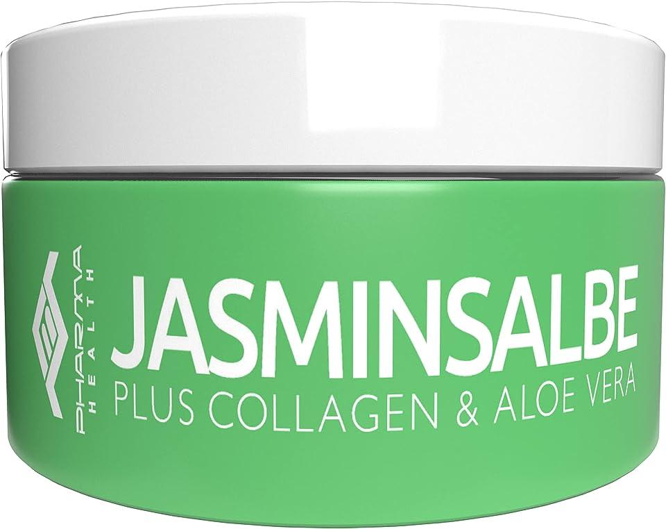 Jasminsalbe | Augencreme gegen Augenringe und Augenschatten | Jasmin Salbe gegen Tänensäcke, Schlupflid, Krähenfüße | 100 ml