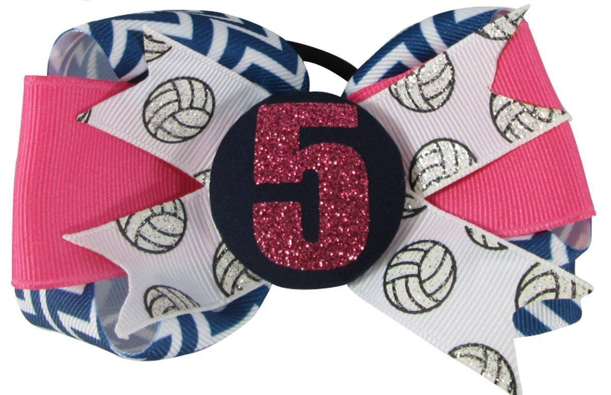 Chevron or choose colors Volleyball Bow Hair Bling Popular standard with New Shipping Free Girl