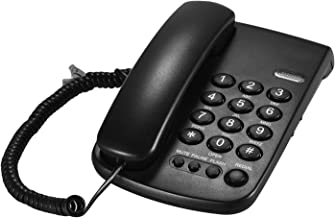 $20 » Fesjoy Corded Telephone, Portable Corded Telephone Phone Pause/Redial/Flash/Mute Mechanical Lock Wall Mountable Base Hands...