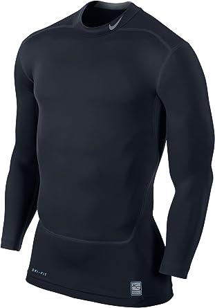 Fuerza Círculo de rodamiento Autonomía  Nike Pro Combat Dri fit compression long sleeve shirt: Amazon.co.uk:  Clothing
