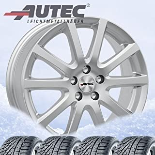4 complete winterwielen Skandic 8x19 ET 45 5x114,3 briljant zilver met 235/55 R19 105V Pirelli Scorpion Winter XL FSL M+S ...
