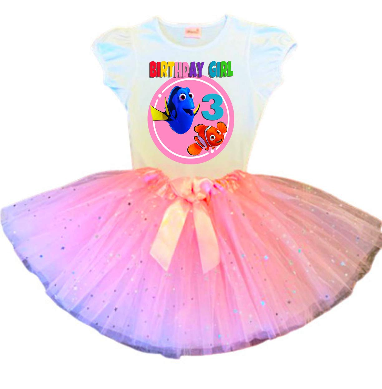 Dory and Nemo Birthday Max 40% Bombing free shipping OFF Tutu Party Pink 3rd O Dress