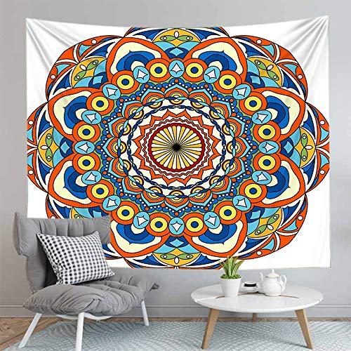 PPOU Mandala 3D Tapiz montado en la Pared Decoración de la Sala de Estar Decoración de la Pared del hogar Fondo de Tela Tapiz Sofá Toalla A6 150x200cm