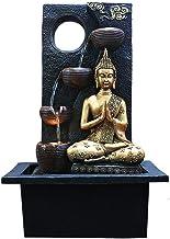 Zen Indoor Water Fountain with Water Pump - Buddha Statue Gemstone Feng Shui Ornaments Great for Living Room Bedroom Garden
