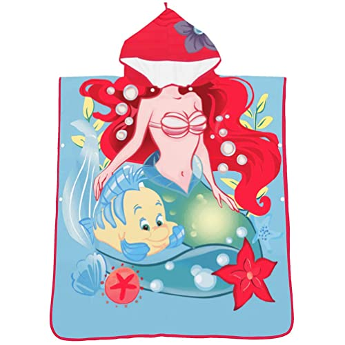 24Inchx48Inch, Blue Mermaid Sinland Childrens Hooded Bath Towel