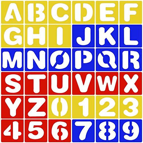 26 STKS Letters Alfabet Stencil + 10 STKS Nummer PP Stencils Sjabloon Set Schilderij Tekening Leren DIY Craft Scrapbooking