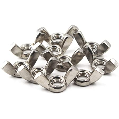 M12 Wing Nut,1.75mm Thread 304 Stainless Steel Butterfly Nuts Hand Twist Tighten Hardware Nut Fasteners Parts 5Pcs