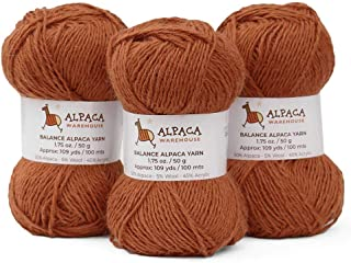 Blend Alpaca Yarn Wool Set of 3 Skeins DK Weight - Heavenly Soft and Perfect for Knitting and Crocheting (Soft Copper, DK)