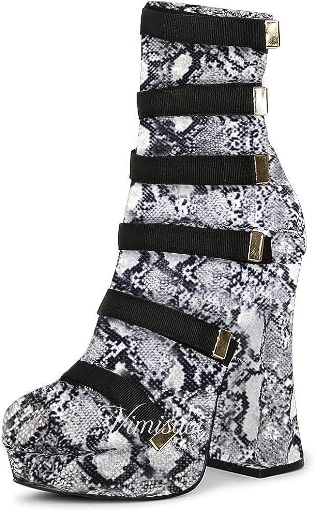 VIMISAOI Platform Ankle Booties for High Chunky Tucson Mall Women H Mesa Mall Fashion