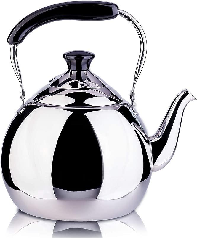 ROYDOM Whistling Tea Kettle Stainless Steel Teapot 2 Liter Teakettle For Stovetop Induction Stove Top Fast Boiling Heat Water Tea Pot Maker 2 1 Quart