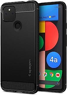 Spigen Google Pixel 4a 5G ケース TPU 米軍MIL規格取得 耐衝撃 衝撃吸収 ラギッド・アーマー ACS01885 (マット・ブラック)