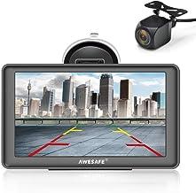 AWESAFE Bluetooth Navigation mit Rückfahrkamera für Auto LKW 7 Zoll Navigationsgeräte,..