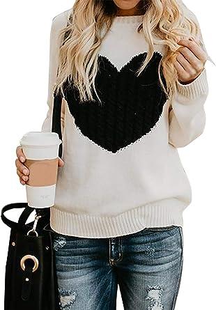 Maglione Donna Felpa Ragazza Sweatshirt Oversize Pullover Invernali Primavera Manica Lunga Casual Moda Girocollo Tops Natale