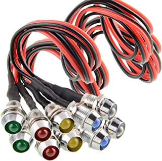 10 pcs/Lot LED Indicator Light Lamp Pilot Dash Directional Car Truck Boat Blue red Green Yellow White (Tricolor)
